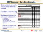 cmt example core questionnaire