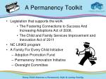 a permanency toolkit