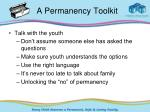 a permanency toolkit1