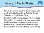 history of family finding