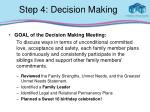 step 4 decision making
