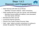 steps 1 2 discovery and engagement
