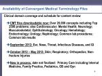 availability of convergent medical terminology files