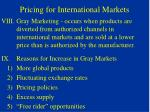 pricing for international markets5