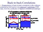 back to back correlations3