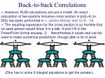back to back correlations5