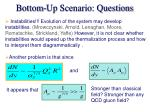 bottom up scenario questions