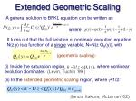 extended geometric scaling