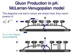 gluon production in pa mclerran venugopalan model
