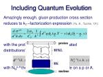 including quantum evolution1