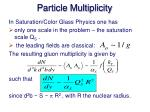 particle multiplicity