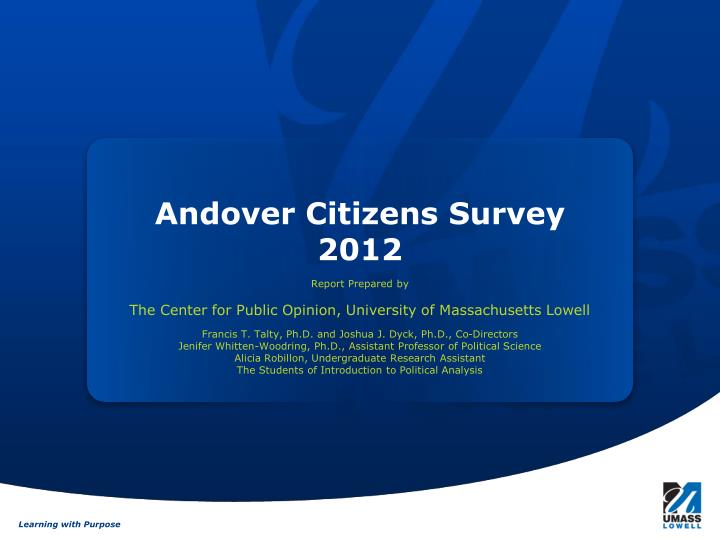 andover citizens survey 2012 n.