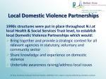 local domestic violence partnerships