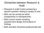 similarities between research audit