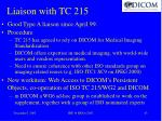 liaison with tc 215