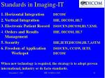 standards in imaging it