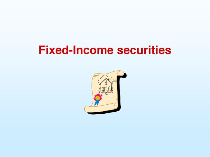 fixed income securities n.