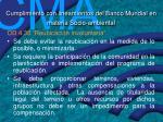 cumplimiento con lineamientos del banco mundial en materia socio ambiental1