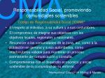 responsabilidad social promoviendo comunidades sostenibles