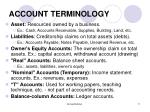 account terminology