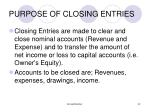 purpose of closing entries