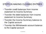 steps in making closing entries