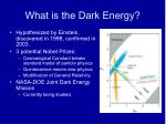 what is the dark energy
