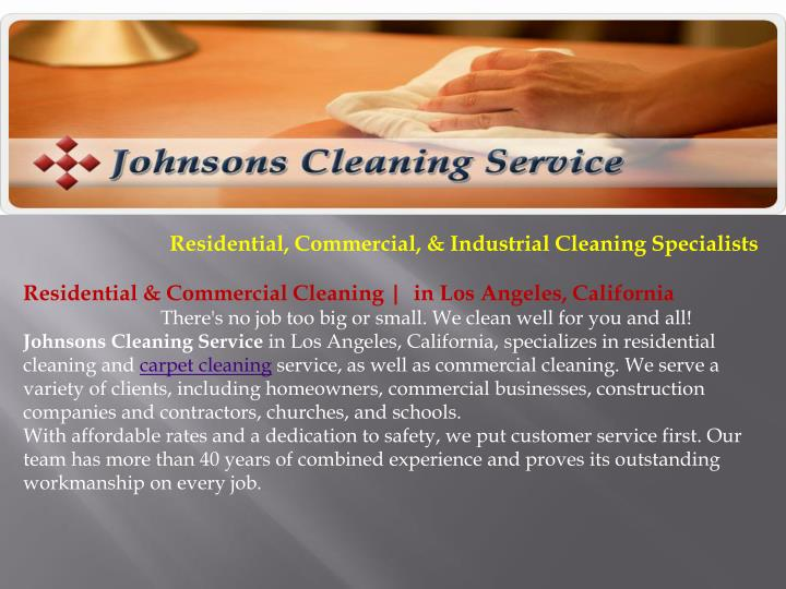 Residential, Commercial, & Industrial Cleaning Specialists
