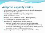 adaptive capacity varies