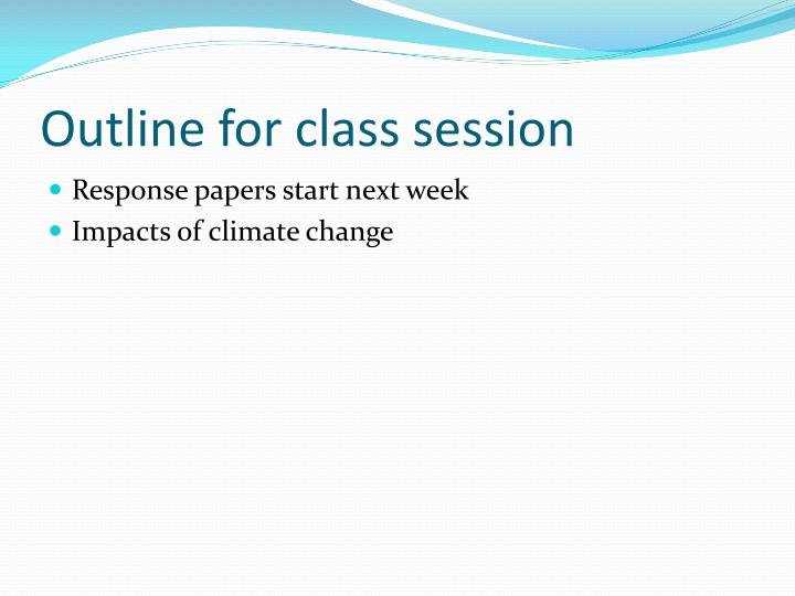 outline for class session n.