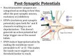post synaptic potentials