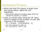 interpreting chi square