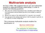 multivariate analysis1