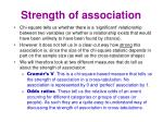 strength of association