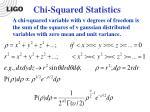 chi squared statistics