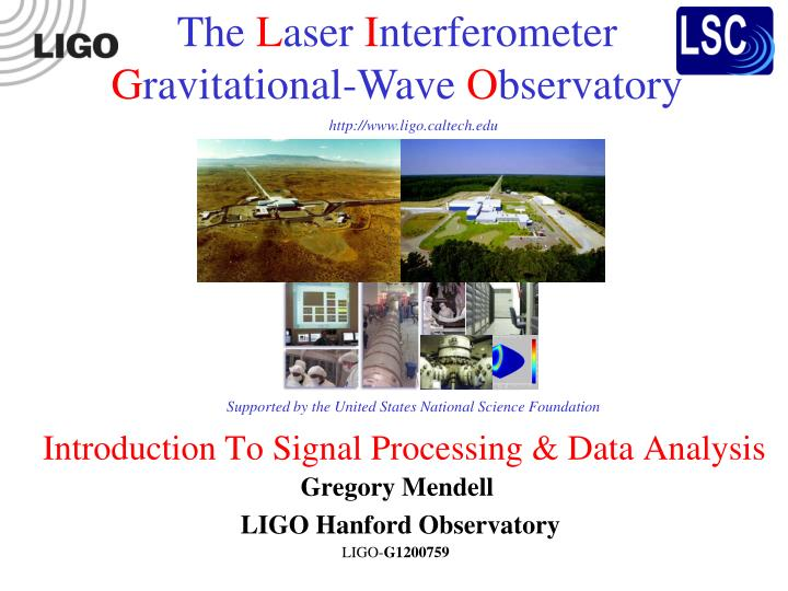 introduction to signal processing data analysis n.