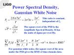 power spectral density gaussian white noise