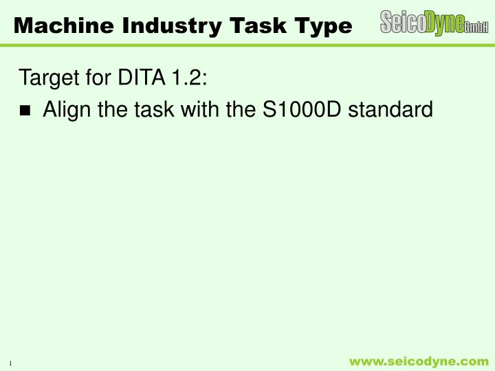 machine industry task type n.