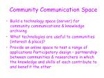 community communication space