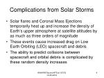 complications from solar storms