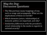 wag the dog discussion questions1