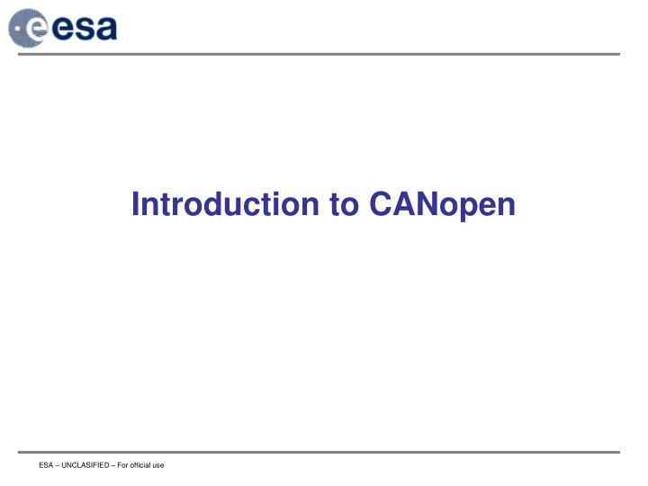 introduction to canopen n.