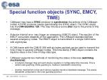 special function objects sync emcy time