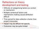 reflections on theory development and testing