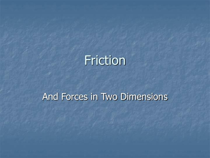 friction n.