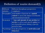 definition of tourist demand 1