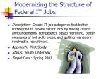 modernizing the structure of federal it jobs