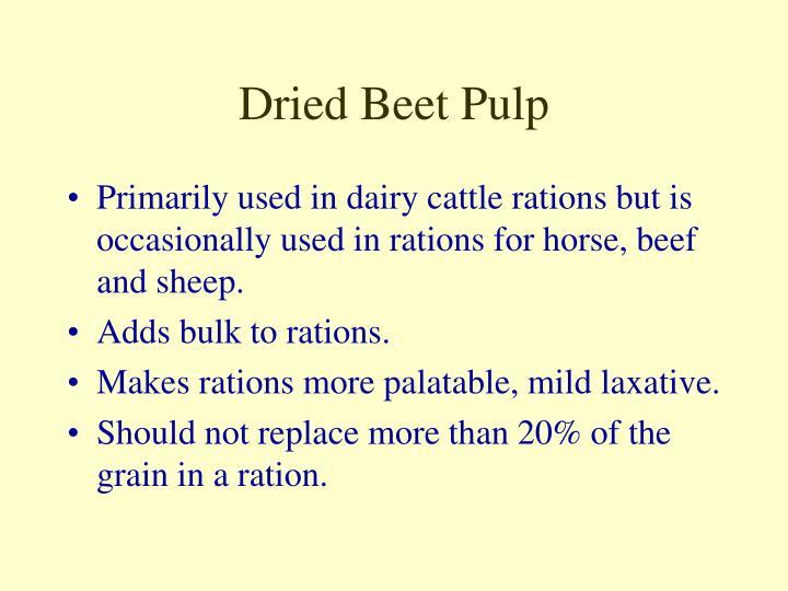 Dried Beet Pulp