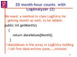 2d month hour counts with loganalyzer 2