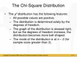 the chi square distribution